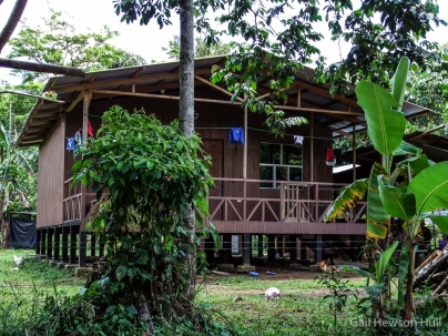 """The Costa Rican government housing ministry will now provide qualified Ngobe applicants with """"bonos"""" (subsidies) for homes such as these in the Ngobe style. This is a model for all such future homes in La Casona."""