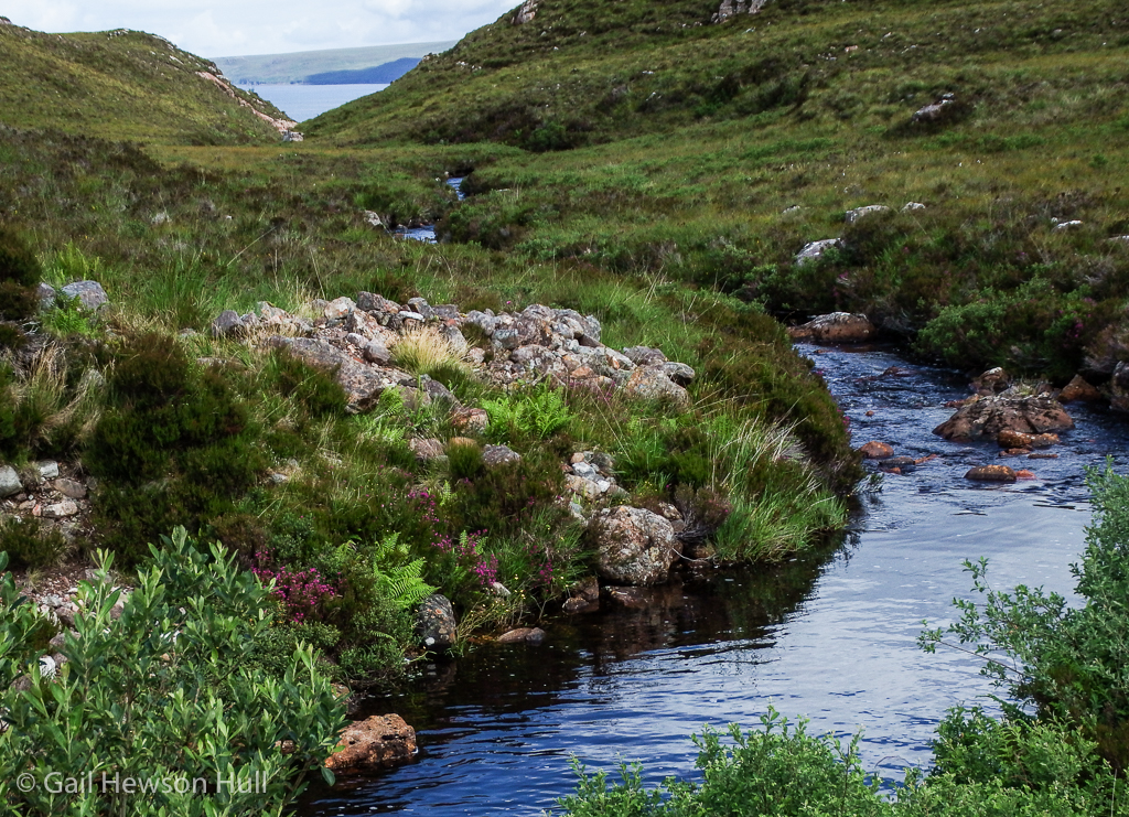 River descending to the sea in Wester Ross.