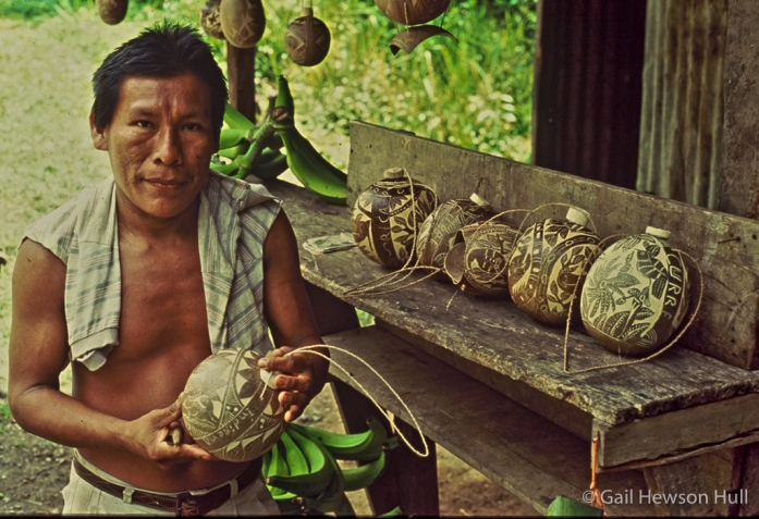 Boruca calabeza gourd carver, Rey Curre, Costa Rica, 1996
