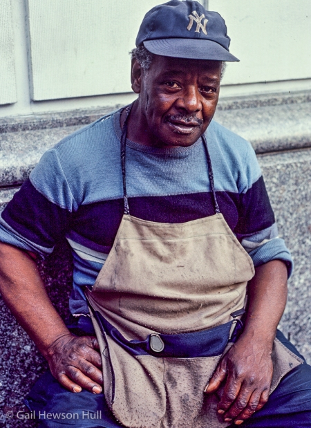 Shoeshine Man, New York, New York, 1972
