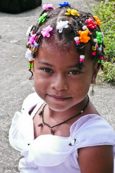 Girl on her First Communion day, Tortuguero, Costa Rica, 2012