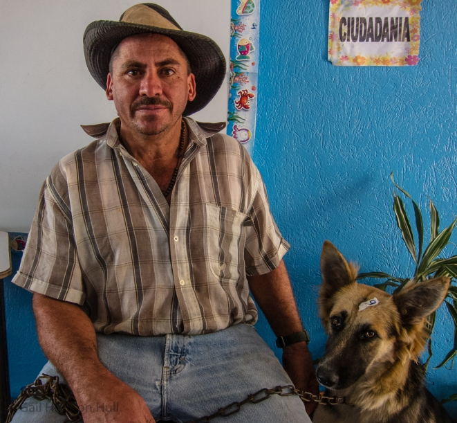 Campesino at dog and cat neuter and spay clinic, San Vito, Costa Rica, 2014