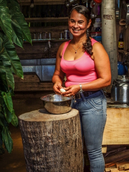 Yamileth, tortilla maker and restaurant owner, Cerro Pittier, Costa Rica, 2016