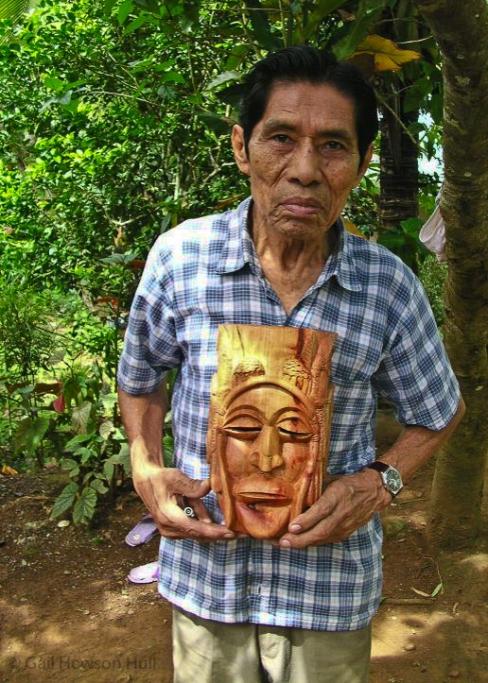 Ismael Gonzalez, master mask carver, Boruca, Costa Rica, 1999