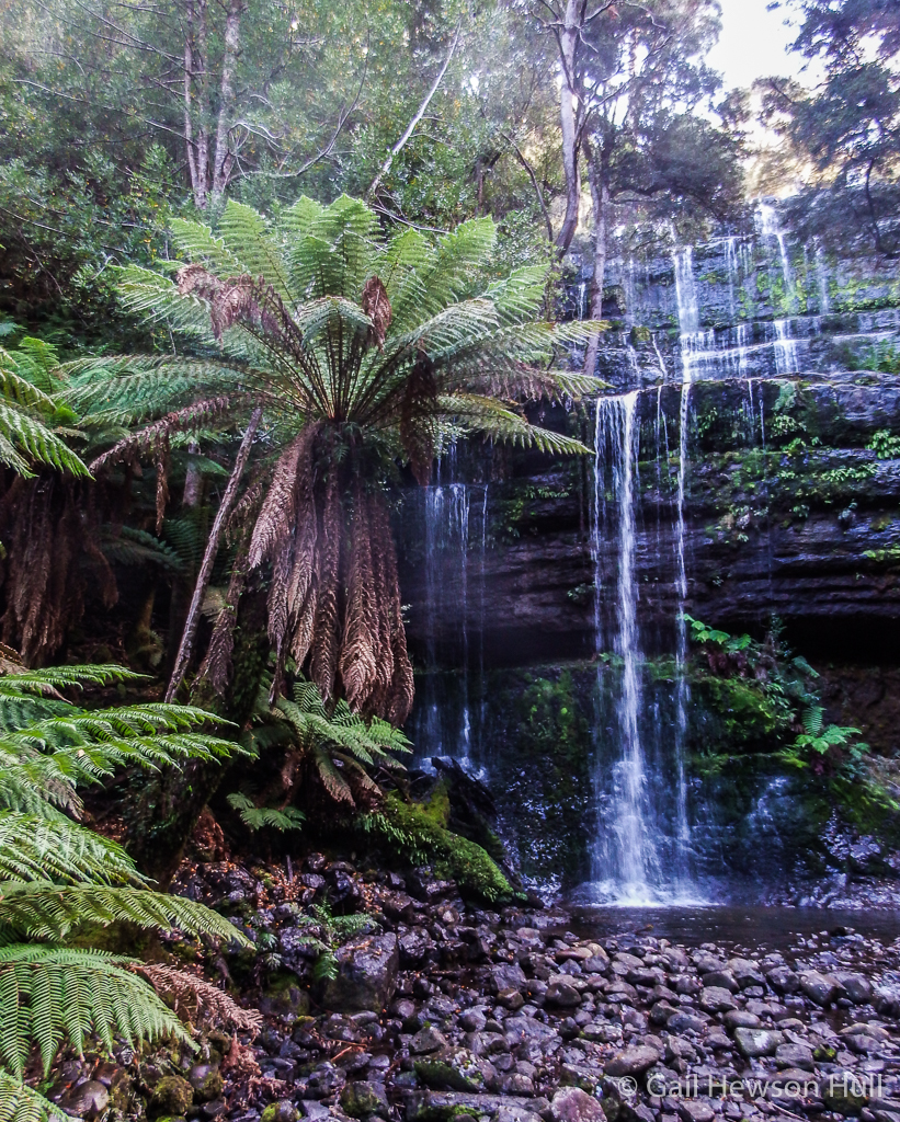 Russell Falls, set aside as Tasmania's first nature reserve and protected since 1885.