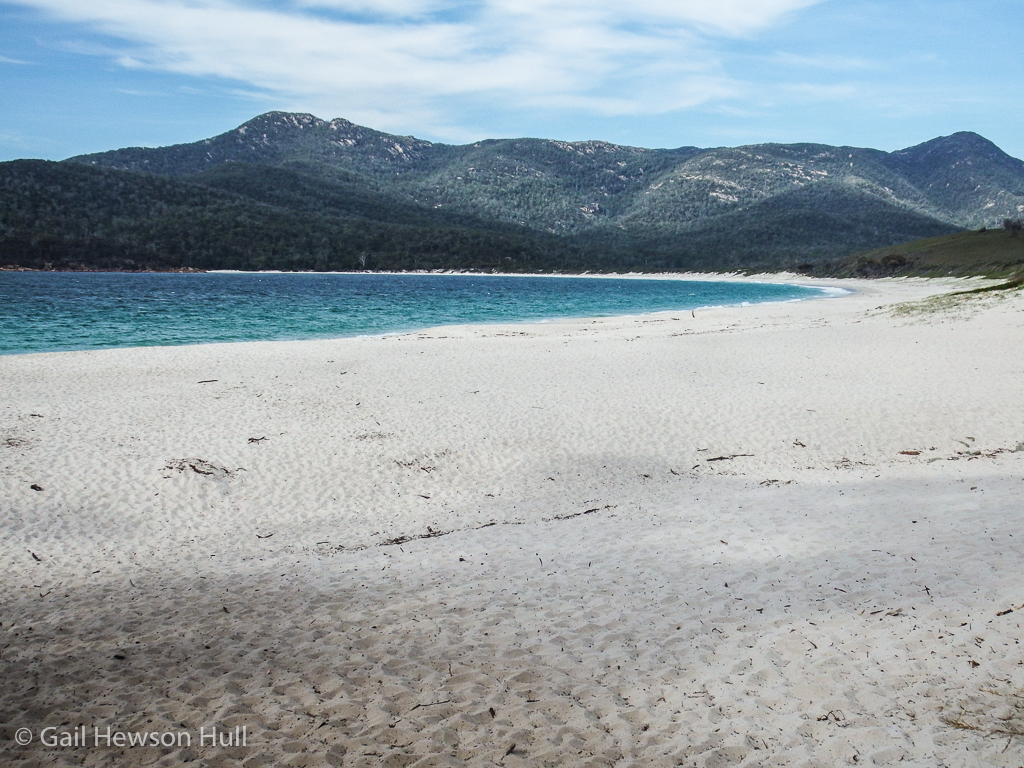 The beach at Wineglass Bay in Freycinet National Park.